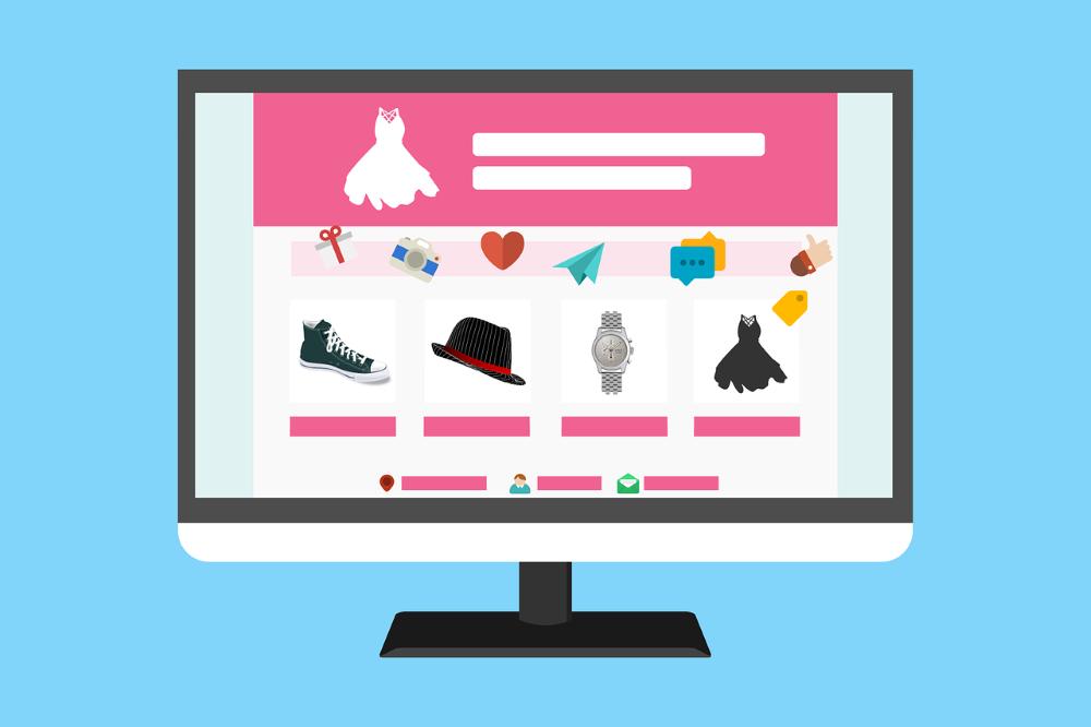 Skärmbild som visar webbutik